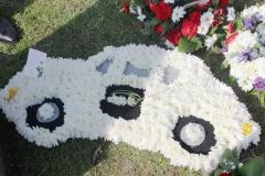 car floral arrangement