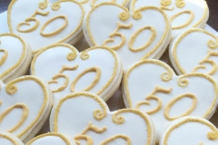 50 wedding anniversary biscuits